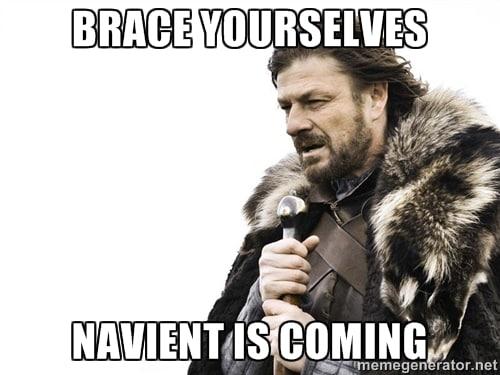 Navient is coming