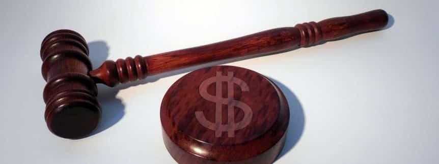 lawyer gavel money