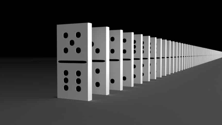 Black and White Dominos - Student Loan Interest Rate