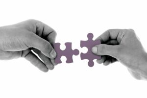 Lower Payments Strategy Puzzle Pieces Fitting Together