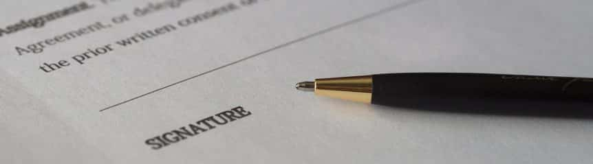 income share contract waiting for a signature