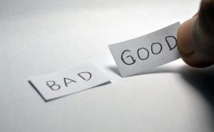 label bad and good